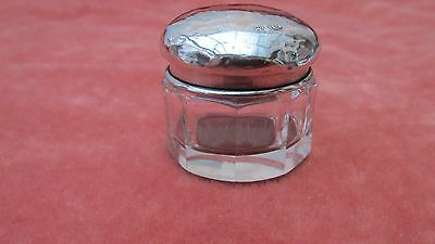 A Lovely Solid Silver Topped Rouge Jar by W & Co. Hallmarked London 1903