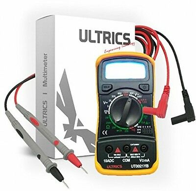 ULTRICS Digital LCD Multimeter Voltmeter Ammeter OHM AC DC Circuit Checker