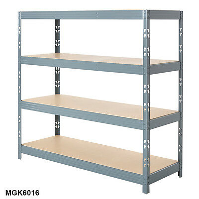 Heavy Duty Shelving 4 Level Garage Steel Racking 350kg UDL Grey Racking BiGDUG
