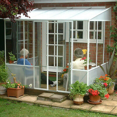 DIY Steel PVC Garden Room  Summer House Lean To Greenhouse Two Sizes Available
