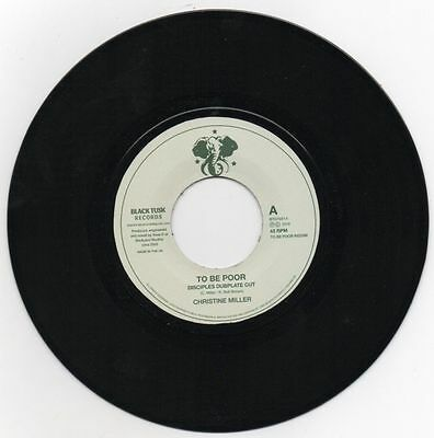 """Christine Miller – To Be Poor Is A Crime (Disciples Dubplate Cut) 7"""""""