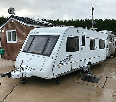 2008 Compass Corona 544 Fixed Bed 4 Berth Caravan - Motor Mover, Awning & Extras