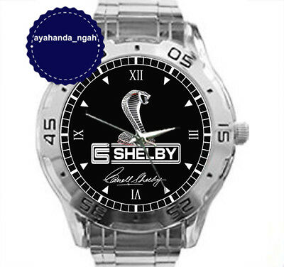 NEW ARRIVAL Custom Men's Wrist Watches FORD MUSTANG COBRA CARROL SHELBY Watch