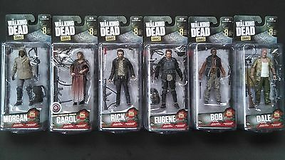 McFarlane The Walking Dead AMC Series 8 Action Figures COMPLETE SET OF 6 Sealed