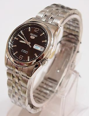 SEIKO 5 SNK391 Stainless Steel Band Automatic Men's Dark Brown Watch SNK391K1