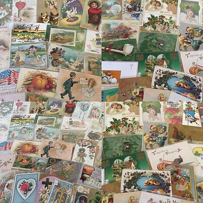 400 Huge Box Lot Vintage  Mixed Holidays & Greetings Postcards Antique-a-9
