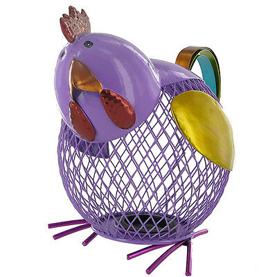 Fabulous Novelty Metal Chicken Money Box Piggy Bank Collectable Gift New & Boxed