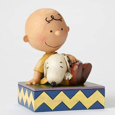 Jim Shore  serie Charlie Brown e Peanuts Charlie Brown Happiness is snuggling