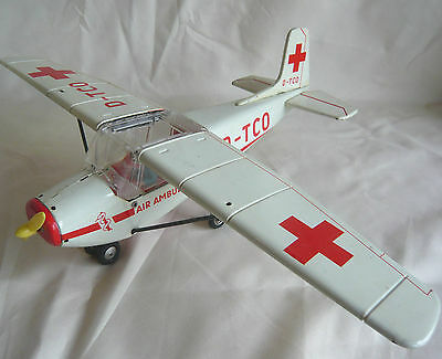 RARE TIPPCO 1960's AIR AMBULANCE SESNA PLANE WITH FIGURES MADE IN GERMANY BOXED