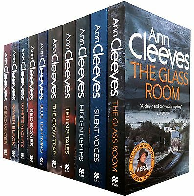 Ann Cleeves TV Shetland & Vera Series Collection 10 Books Set, White Nights