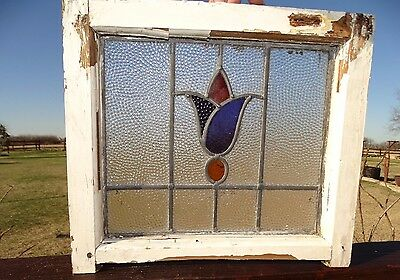 17634- Antique Victorian Church Stained Glass Window 1880 Architectural Salvage