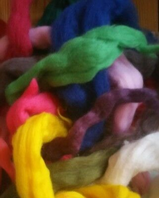 500g of Merino / Corriedale/Ille de France Wool Roving Top spinning felting