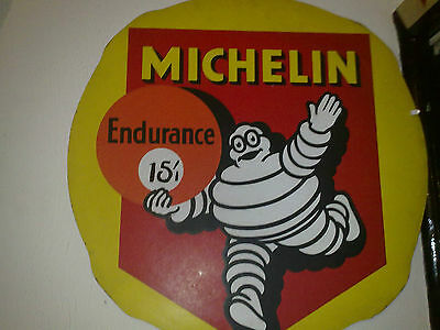 michelin sign vintage hardboard believed a cycle tyre goes around the sign/old