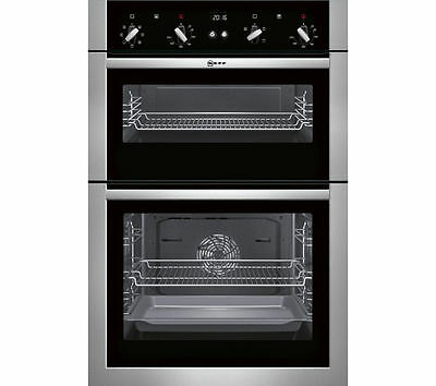 NEFF U14M42N5GB Electric Double Oven - Stainless Steel