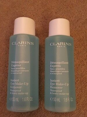 NEW Clarins Instant Eye Make-Up Remover 100ml ( 2 X 50ml )