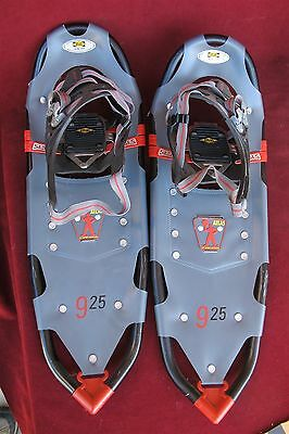 "ATLAS Snow Shoe Adult Snowshoes 120-200 lbs. Red Black Model No. 925 25"" nice"