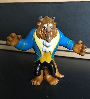"VINTAGE DISNEY'S The BEAST in Blue Suit 3"" PVC FIGURE BEAUTY AND"