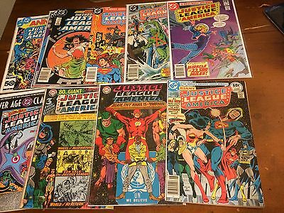 JUSTICE LEAGUE OF AMERICA vintage lot of 12 #57,58 Brave and Bold 28 &more 1969-