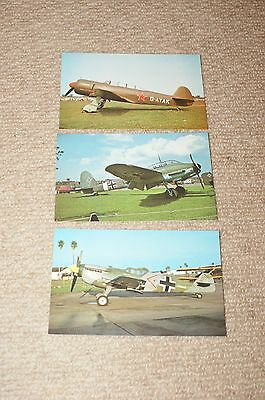 3 Military Aircraft Postcards Aviation Aircraft Plane Messerschmitt Yak