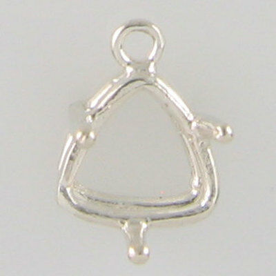 Prenotched 10Mm Trillion Dangle Solitaire Earring In Sterling Silver Cb10Tss