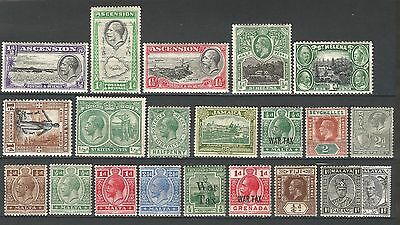 British colonial MNH/MH/OG old KGV collection of all mint worth looking on sale!