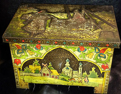 """Huntley & Palmers """"russian"""" Biscuit Tin C1911 Reading & London"""