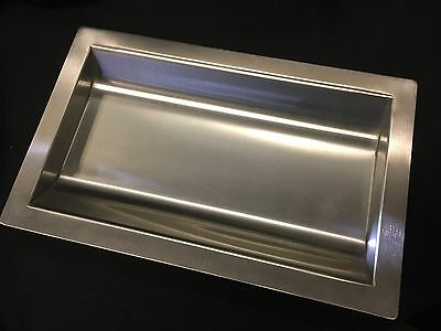 """Stainless Steel Drop-In Deal Tray, Brushed Finish, 16"""" (w) x 10"""" (d)"""
