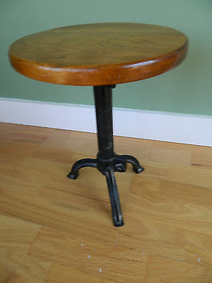"""Vintage Stool  13"""" tall with 10"""" Round Seat"""