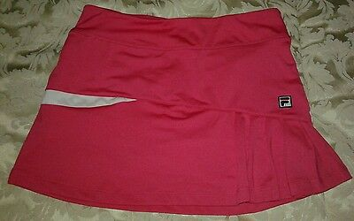 Fila Girls Side Pleated Tennis �� Skort Pink~Sz L  (12-14). Age 9-11