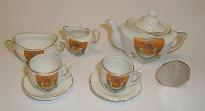 Gemma Miniature Crested Tea Set Folkestone Crest