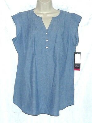 Oh Baby by Motherhood Maternity Top Blouse Blue Size M NWT