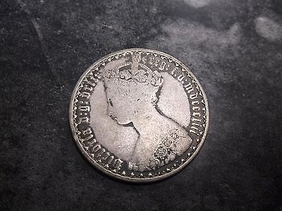 1853 Great Britain One Florin Sterling Silver Coin