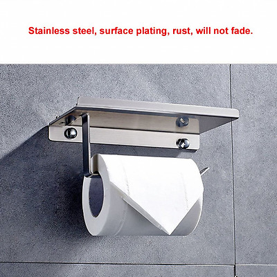 Wall Mounted Anti-rust Stainless Steel Bathroom Tissue Holder Toilet Paper Roll