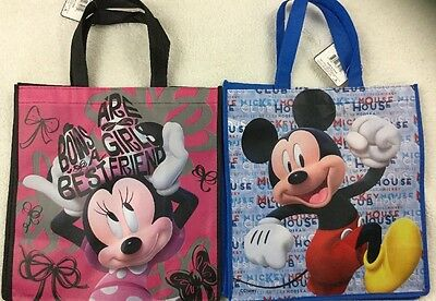 Mickey Mouse Minnie Mouse Recyclable Shopping Bags Set Of 2