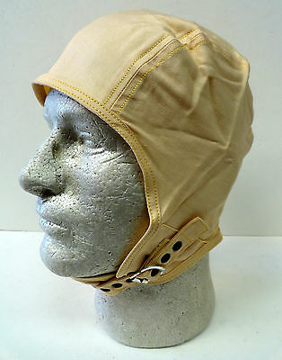 Aviatrix Cloth Crème Colored Flying Helmet
