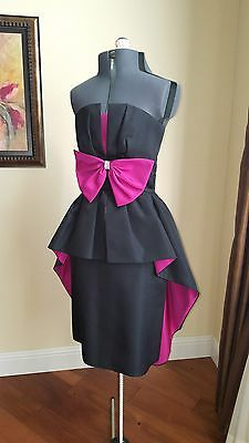 Vintage 80s Party Prom Cocktail Dress  - super hot! Xs