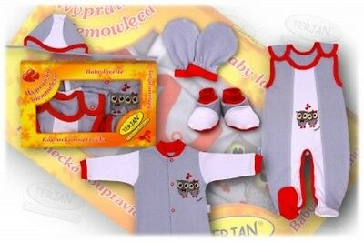 New Baby Boys Girls Gift Set 5 Piece Set Gift Box Ready Newborn Gift - Grey