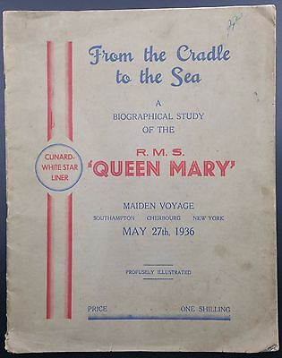 Cunard White Star Line Brochure, RMS Queen Mary's Maiden Voyage, Cradle to Sea