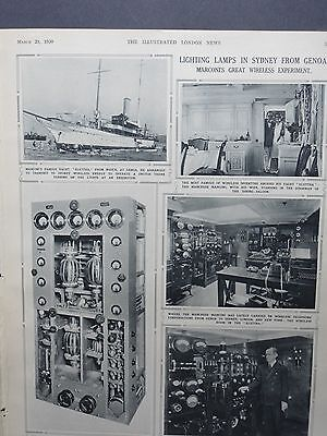 1930 ILLUSTRATED LONDON NEWS- Marconi Wireless,Forensic Science by Edmond Bayle