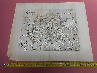 100% Original East Yorkshire  Map By Saxton Hole  C1610 Scarce