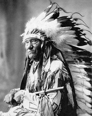 Native American Indian CHIEF LITTLE WOUND 8x10 Photo Oglala Sioux Print Poster