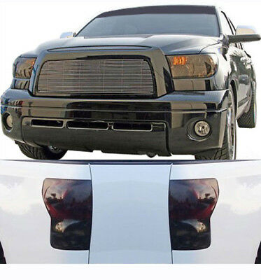 07-09 Toyota Tundra GTS Smoke Acrylic Headlight Taillight Covers Protection 4pc
