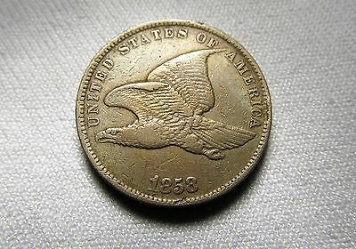 1858 Flying Eagle Penny Very Fine Ab30
