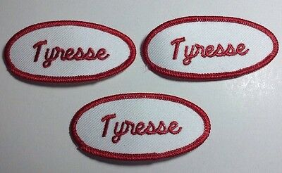 VICTOR EMBROIDERED SEW ON NAME PATCH LOT OF 3 ~ NAME TAG