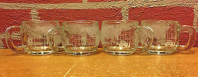 Vintage Set of 4 Nestle World Coffee Cup  Very Good Condition
