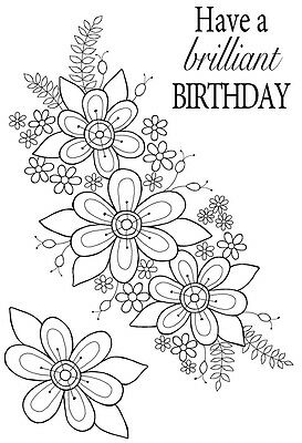 Woodware Clear Singles Rubber Stamp - Perfect Petals JGS487