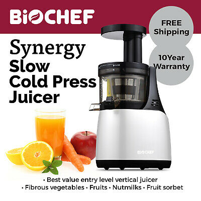 BioChef Synergy Slow Juicer / Cold Press Juicer / Juice Extractor White