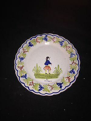 """Early 6 3/4"""" Quimper Plate"""