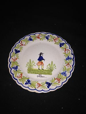 "Early 6 3/4"" Quimper Plate"