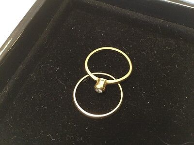 9ct Yellow Gold Diamond Ring and Band, Size K